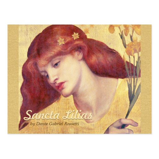 Rossetti Sancta Lilias CC0657 Postcard