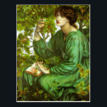 """Rossetti The Day Dream Postcard<br><div class=""""desc"""">Rossetti The Day Dream postcard. Oil on canvas from 1880. Dante Gabriel Rossetti was one of the founding members of the Pre-Raphaelite movement. Rossetti's The Day Dream features a beautiful young woman reading in a tree. She wears a green satin gown and holds a book in her lap. She is...</div>"""