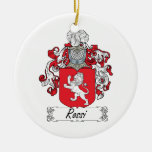 Rossi Family Crest Double-Sided Ceramic Round Christmas Ornament
