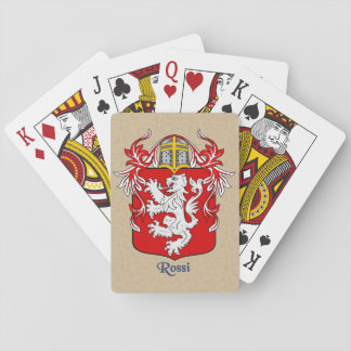 Rossi Heraldic Shield and Mantle Playing Cards