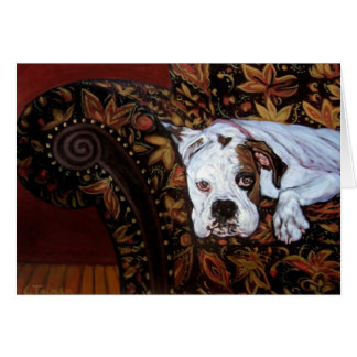 Rossi the Boxer Greeting Card