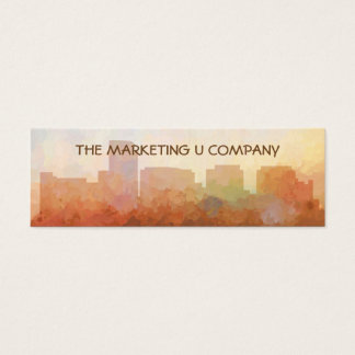 Rosslyn Virginia Skyline IN CLOUDS Mini Business Card