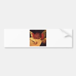 Rosso Fiorentino Musician Angel Bumper Sticker