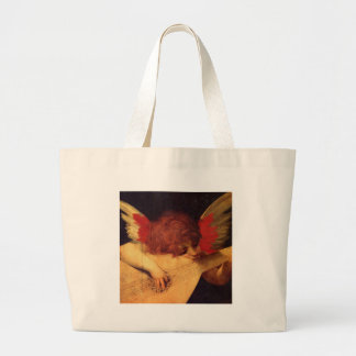 Rosso Fiorentino Musician Angel Large Tote Bag