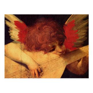 Rosso Fiorentino Musician Angel Postcard