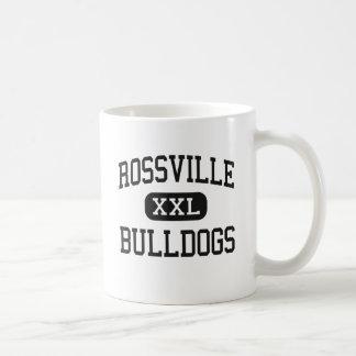 Rossville - dogos - alto - Rossville Kansas Taza Básica Blanca