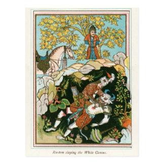 Rostam slaying the White Genie Postcard
