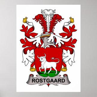 Rostgaard Family Crest Poster