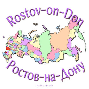 Rostov On Don Map Gifts on Zazzle
