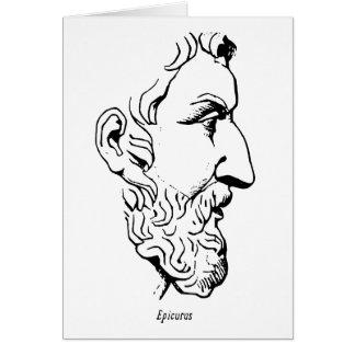 Rostro de Epicurus Tarjeta De Felicitación