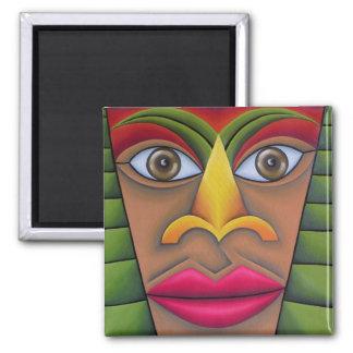 Rostro pintura óleo arte 2 inch square magnet