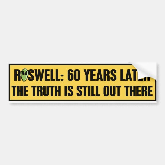 ROSWELL 60 YRS LATER BUMPER STICKER