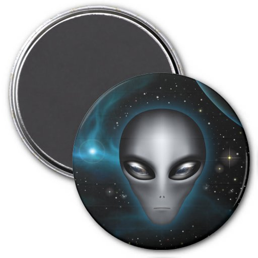 Roswell Alien II (Magnet) 3 Inch Round Magnet