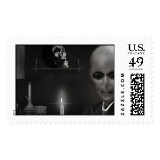 roswell alien postage stamp