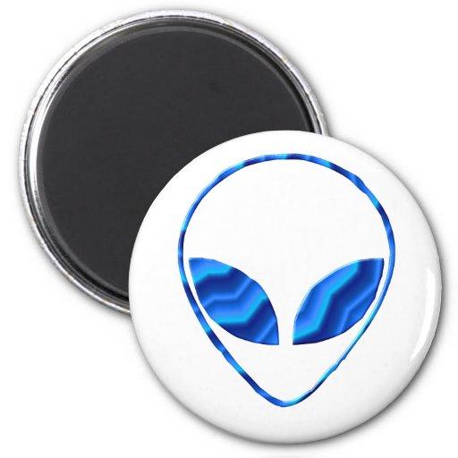 Roswell Alien Round Magnet