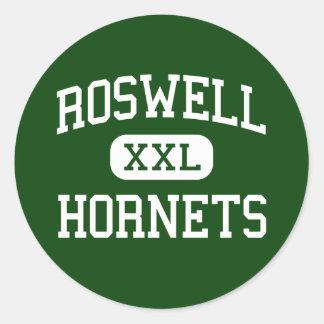 Roswell - avispones - High School secundaria - Etiquetas Redondas