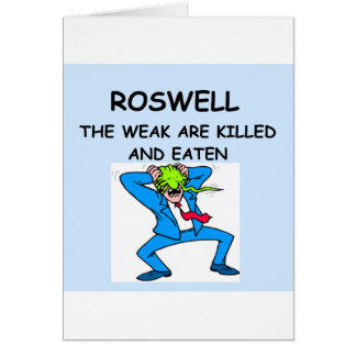 ROSWELL GREETING CARD