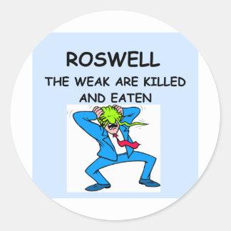 ROSWELL CLASSIC ROUND STICKER