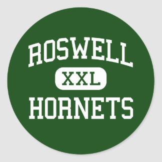 Roswell - Hornets - High School - Roswell Georgia Classic Round Sticker