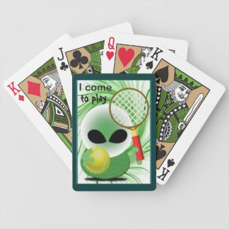 Roswell jokes bicycle playing cards