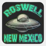Roswell, New México Calcomanía Cuadradas