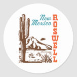 Roswell New Mexico Classic Round Sticker