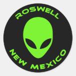 Roswell, New México Etiqueta Redonda
