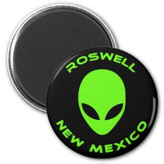 Roswell, New México Imán Redondo 5 Cm