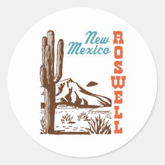 Roswell New México Etiquetas Redondas