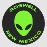 Roswell, New Mexico Round Sticker