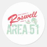 Roswell Pegatina Redonda