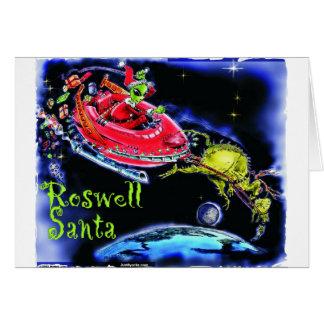 Roswell Santa Greeting Card