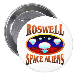 Roswell Space Alien Button