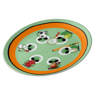 Roswell sports porcelain plates