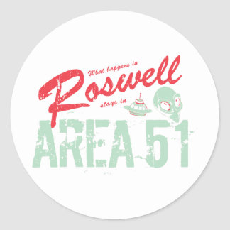 Roswell Classic Round Sticker
