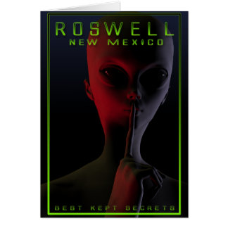Roswell Travel Poster 2 Greeting Card