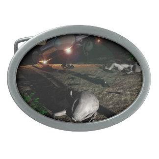Roswell UFO Crash at night Belt Buckle