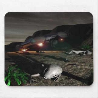 Roswell UFO Crash at night Mousepad