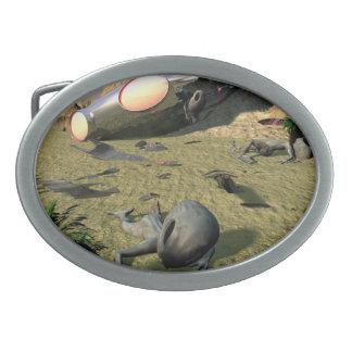 Roswell UFO Crash Oval Belt Buckles