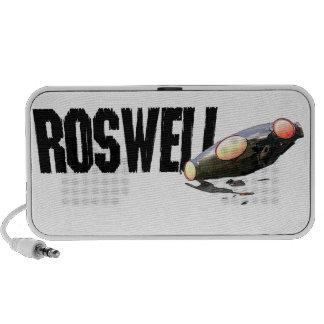 Roswell UFO Crash Doodle iPod Speaker