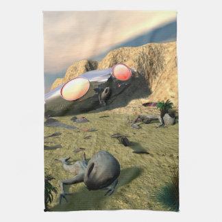 Roswell UFO Crash Towels