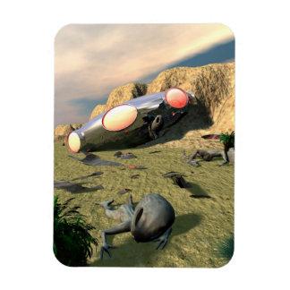 Roswell UFO Crash Flexible Magnet