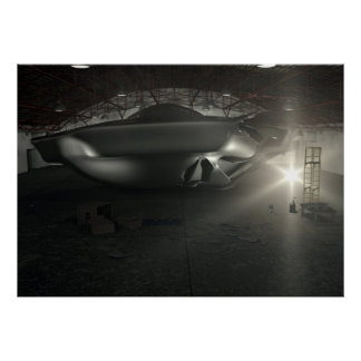 Roswell UFO Hangar Poster