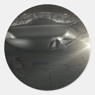 Roswell UFO Hangar Sticker