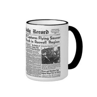 Roswell  UFO incident Ringer Mug