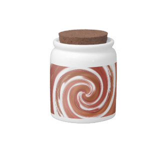 Rosy Beige Spinning Abstract Candy Dishes