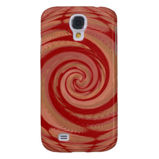 Rosy Beige Spinning Abstract Samsung Galaxy S4 Case
