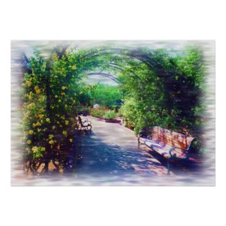 Rosy Bower bordered print print