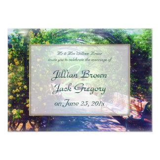 Rosy Bower WEDDING Card