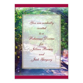 Rosy Bower WEDDING Rehearsal Dinner Invite
